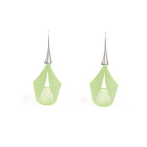 VLUM - Pétale Bright Green Drop Earrings