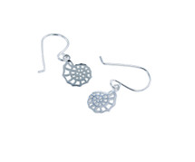 Reeves & Reeves - Sterling Silver Ammonite Silhouette Earrings
