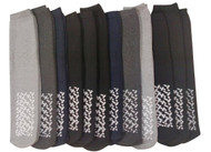 12 Pairs Of excell Mens Assorted Non Skid Slipper Socks #5895-10-13 [Apparel]