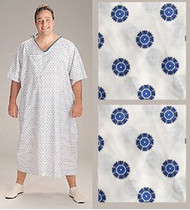 3XL Patient Gowns with Tieside Closure - Pack of 2 (Snowflake)