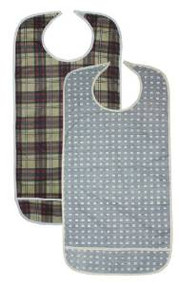 2 Pack Adult Vinyl Adult Bibs with Crumb Catcher - Premium
