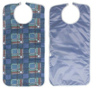 2 Adult Bib with a Full Vinyl Barrier Protection - Stain Fighter - Velcro Clo...