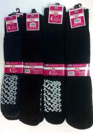 6 Pack Ladies Sock Size 9-11 No Slip Diabetic Sock Cotton Blend Assorted Colors