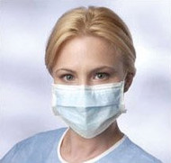 Disposable Pleated Earloop Face Masks (Pack of 500)