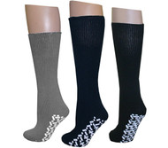 Diabetic Slipper Socks (3 Pairs, 3 Colors) ((1) Pair Black (1) Pair Navy (1) ...