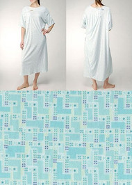 Karen Neuburger Iv Gown with Ties - White and Blue Prints - 10xl