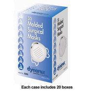 Surgical Face Mask Molded With Aluminum Nose Piece Blue - 50 Each