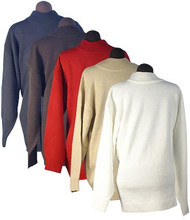 Men's Ron Chereskin 100% Acrylic Sweater - Pull Over (Large, Black)