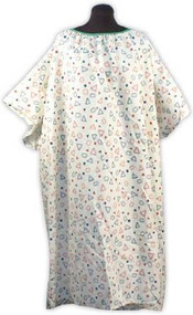 IV Hospital Gown 5x - Snaps on the Shoulders (Geo Yellow)