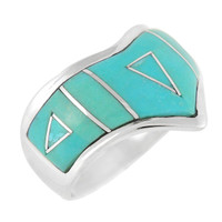 Sterling Silver Ring Turquoise R2002-LG-C05