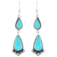 Sterling Silver Earrings Turquoise E1107-C75