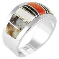Multi Gemstone Ring Sterling Silver R2249-C45