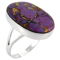 Sterling Silver Ring Purple Turquoise R2260-C77