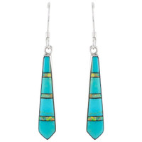 Sterling Silver Earrings Turquoise E1019-C21