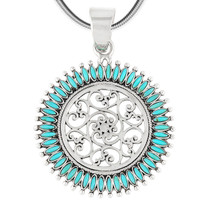 Sterling Silver Pendant Turquoise P3085-C75