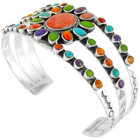 Sterling Silver Bracelet Multi Gemstone B5499-C71