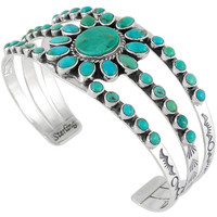 Sterling Silver Bracelet Turquoise B5499-C75