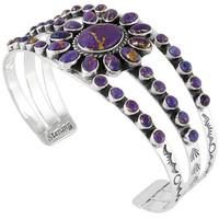Sterling Silver Bracelet Purple Turquoise B5499-C77