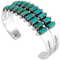 Turquoise Bracelet Sterling Silver B5500-C75