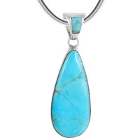 Sterling Silver Pendant Turquoise P3039-C75