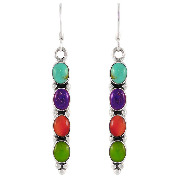 earrings jewellery silver multi gems lena en gemstone may sterling
