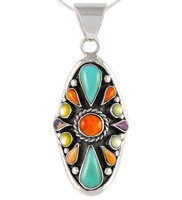 Sterling Silver Pendant Turquoise P3116-C71