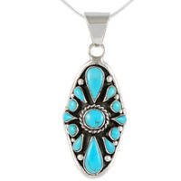 Sterling Silver Pendant Turquoise P3116-C75