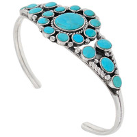 Turquoise Bracelet Sterling Silver B5484-C75