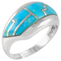 Sterling Silver Ring Turquoise R2273-C05