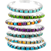 Sterling Silver Stackable Bangle Bracelet B5529