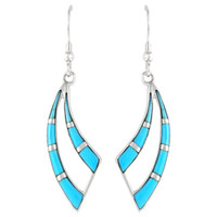 Sterling Silver Earrings Turquoise E1186-C05