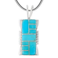 Sterling Silver Pendant Turquoise P3044-SM-C05