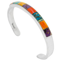 Sterling Silver Bracelet Multi Gemstone B5538-C01