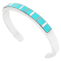 Turquoise Bracelet Sterling Silver B5538-C05