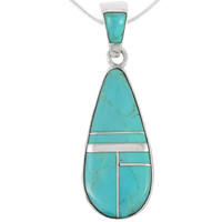 Sterling Silver Pendant Turquoise P3039-C05