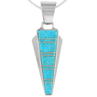 Sterling Silver Pendant Turquoise P3090-C05