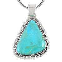Sterling Silver Pendant Turquoise P3148-C75