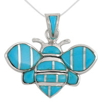 Sterling Silver Bee Pendant Turquoise P3156-C05-SM