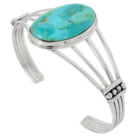 Turquoise Bracelet Sterling Silver B5547-C75 Turquoise Jewelry