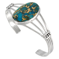 Matrix Turquoise Bracelet Sterling Silver B5547-C84
