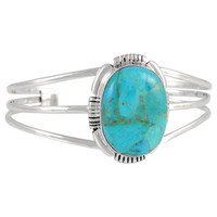 Turquoise Bracelet Sterling Silver B5531-C75