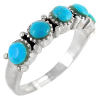Sterling Silver Ring Turquoise R2347-C75