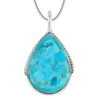 Sterling Silver Pendant Turquoise P3075-C75