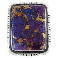 Sterling Silver Ring Purple Turquoise R2382-C77
