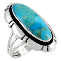 Sterling Silver Ring Turquoise R2380-C75