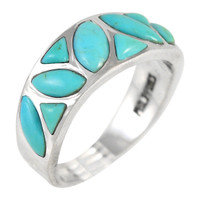 Sterling Silver Ring Turquoise R2388-C75