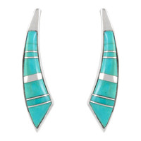 Sterling Silver Earrings Turquoise E1223-C05