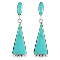 Sterling Silver Earrings Turquoise E1216-C75