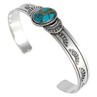 Matrix Turquoise Bracelet Sterling Silver B5525-C84