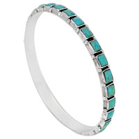 Sterling Silver Bangle Bracelet Turquoise B5529A-C75